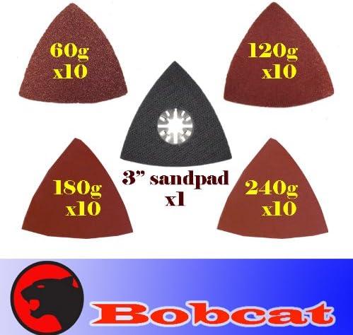 Fein Multimaster Compatible 3 x  Triangular Oscilatting Tool Sanding Pads