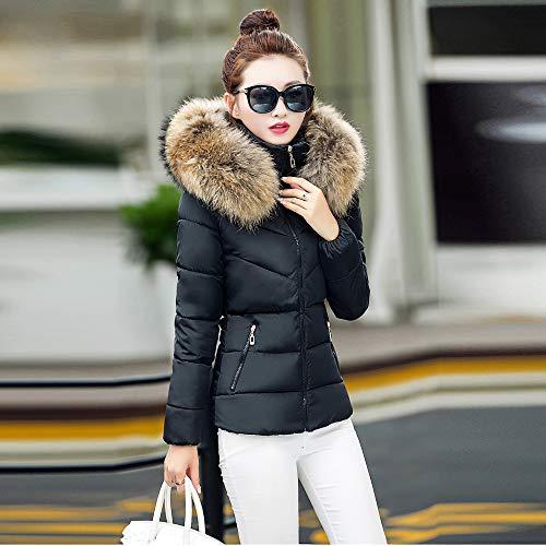 OSYARD Poches Trench Hiver Femme Noir Longues Gilet Doudoune Courte Vest Solide Manches Mode Hooded Manteau Chaud Parka rZHBOqr