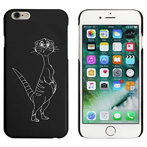 Noir 'Curieux Meerkat' étui / housse pour iPhone 6 & 6s (MC00050545)