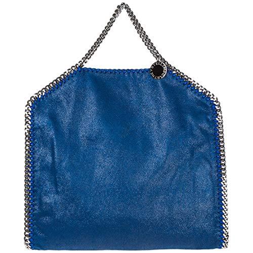 Bolso Falabella Stella Mccartney Over Fold Blu Mujer Mano De qFxAwT7axS