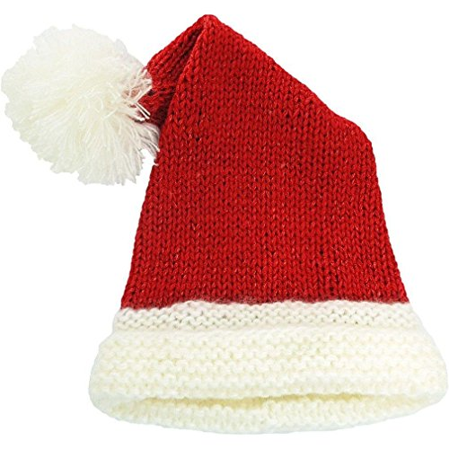 Huggalugs Baby Toddler & Adult Red Sparkle Santa Hat M (Baby Santa Hat)