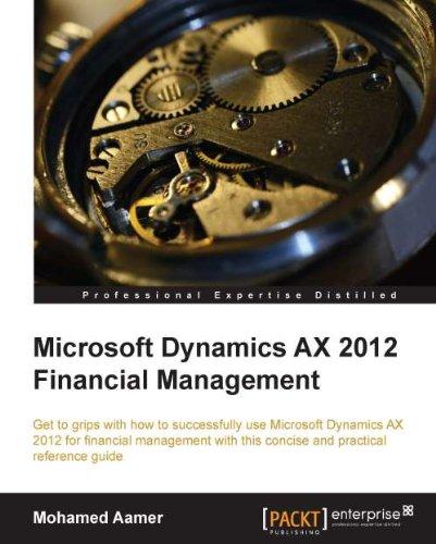 Microsoft Dynamics AX 2012 Financial Management Pdf