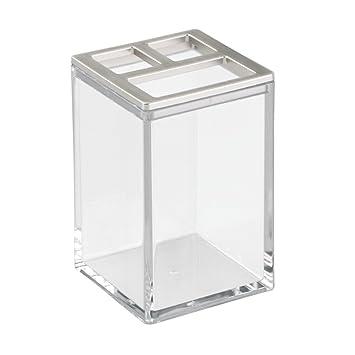 InterDesign - Clarity - Vaso Porta cepillos de Dientes - Claro/Pulido: Amazon.es: Hogar