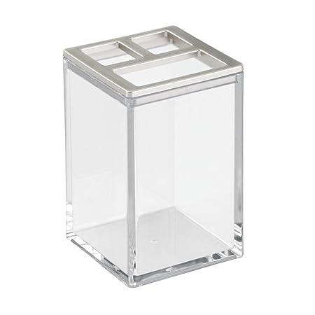 InterDesign - Clarity - Vaso Porta cepillos de Dientes - Claro ...