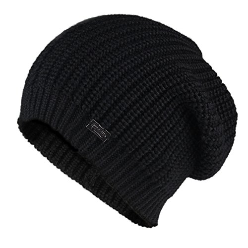 FURTALK Women Girls Merino Wool Slouchy Knit Beanie Hat Winter Crochet Cap