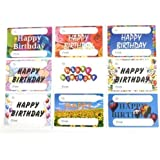 Happy Birthday Gift and Present Tags, Self-Adhesive Labels, 9 Designs