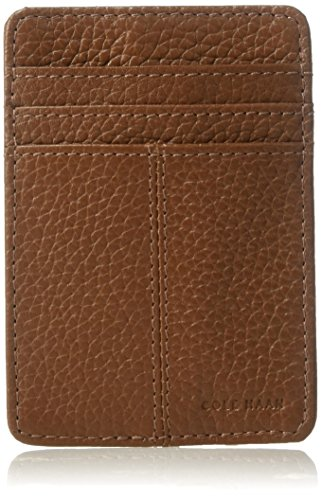 Cole Haan Pebble Leather Wallet With Emb Logo, Money Clip Accessory ()
