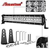 LED Light Bar, Autofeel 17 Inch 108W 5D Lens Spot Flood Combo Beam Off Road Led Light Bar with Adjustable Mounting Bracket for Off Road Jeep ATV AWD SUV 4WD 4x4 Pickup