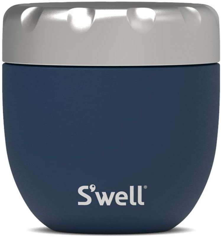 S'well Stainless Steel Food Bowls - 16oz - Azurite Eats - Triple-Layered Vacuum-Insulated Containers Keeps Food Cold for 12 Hours and Hot for 7 - Condensation-Free, Leak-Free and Dishwasher-Safe