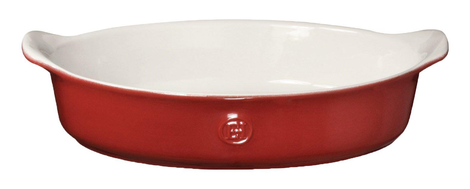 Emile Henry 369029 HR Ceramic Individual Oval Baker, Rouge