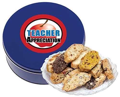 (TEACHER APPRECIATION BISCOTTI TIN 1 LB (FRESH, ASSORTED))