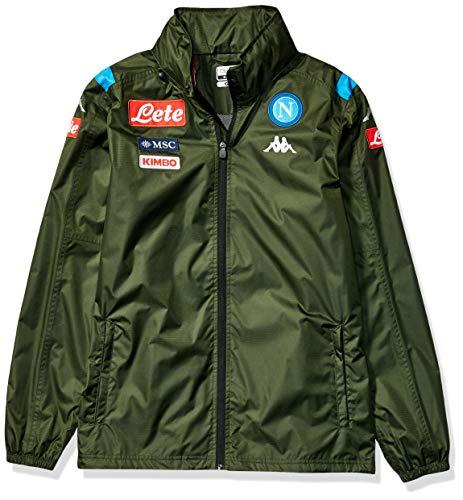 Ssc Napoli Italian Serie A Men's Wind Jacket, Green, XL (Napoli Soccer Shirt)