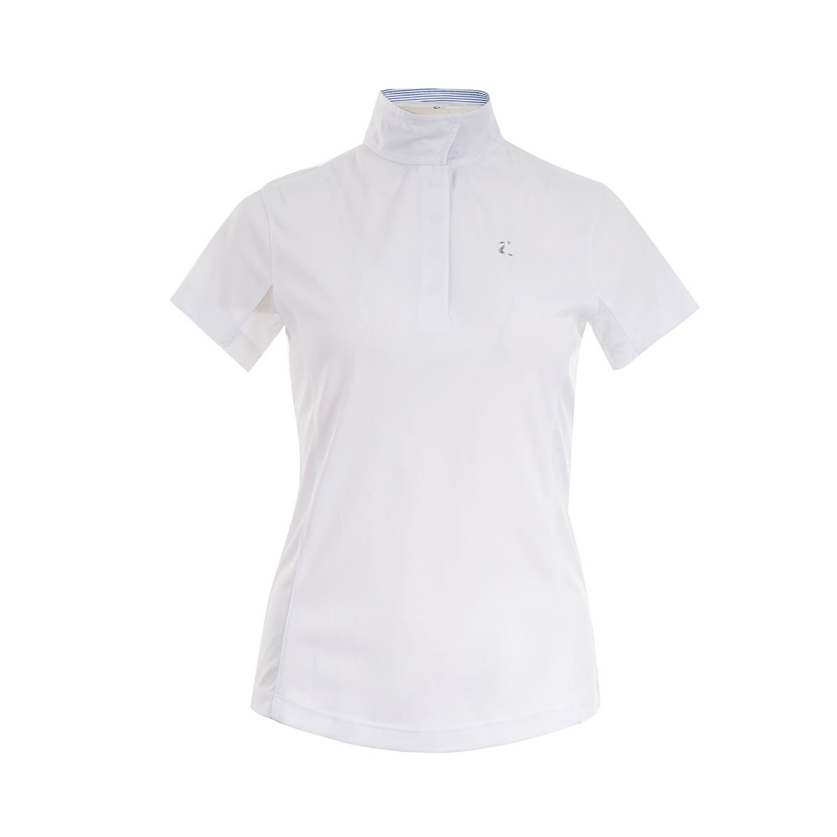 Horze BlaireホワイトWomen 's Functional short-sleeved Showシャツ( US 4 / EU 34 )   B0727NQGMH