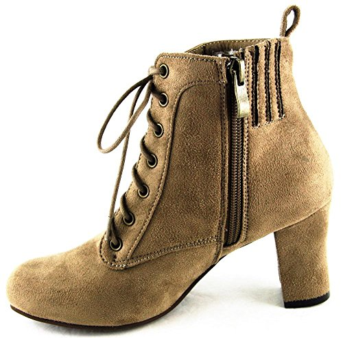 Ankle Kogel 2161 Costume Hirschkogel Hirsch Shoes High Taupe Heels Boots 4vIPUq