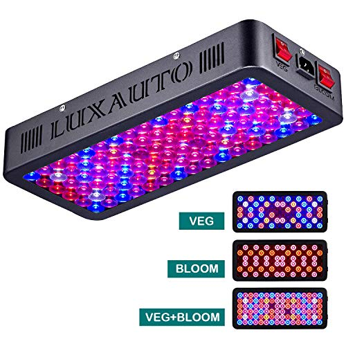 LAXAUTO 1000W LED Grow Light with Lens Tech Daisy Chain Design LED Plant Growing Lamp Full Spectrum for Indoor Plants Veg and Flower (Triple-Chips 15W LED) (1000 watt)