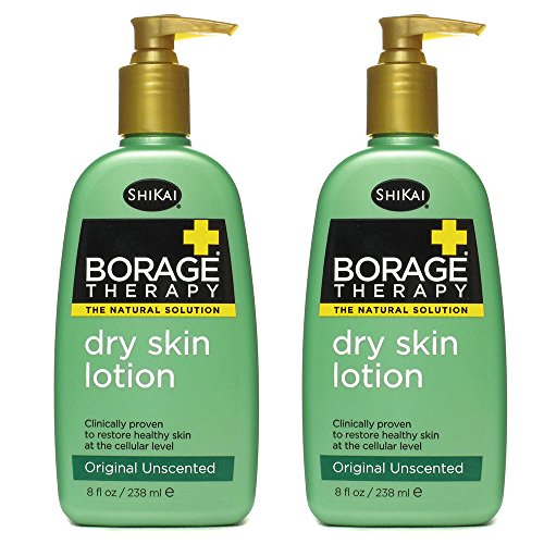 - ShiKai All Natural Borage Dry Skin Therapy Body Lotion Cream For Severely Dry Skin With Organic Aloe Vera, Jojoba, Vitamin E, Shea Butter and Omega-6 Fatty Acids, 8 fl. oz. (Pack of 2)