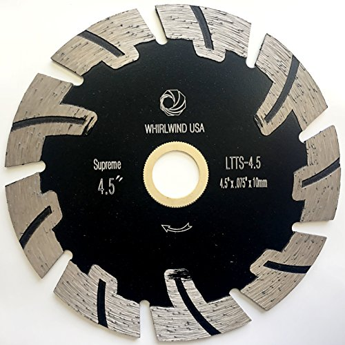 Whirlwind USA LTTS 4.5-Inch Supreme Quality Dry or Wet Cutting General Purpose Power Saw T Segmented Diamond Blades for Granite Stone Concrete (Factory Direct Sale) (4.5