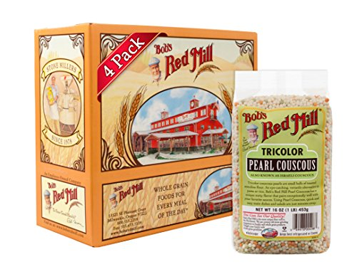 Bob's Red Mill Tri Color Pearl Couscous, 16 Ounce (Pack of 4) (Couscous Pasta)