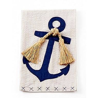 Mud Pie Linen Nautical Towel- Anchor