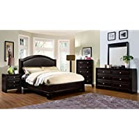 247SHOPATHOME Idf-7058EK-6PC Bedroom-Furniture-Sets, King, Espresso