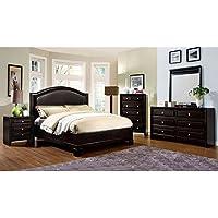 247SHOPATHOME Idf-7058EK-6PC Bedroom-Furniture-Sets, King, Espresso