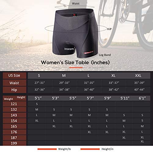 Eco-daily Cycling Shorts Women's three-D Padded Bicycle Bike Biking Underwear Shorts