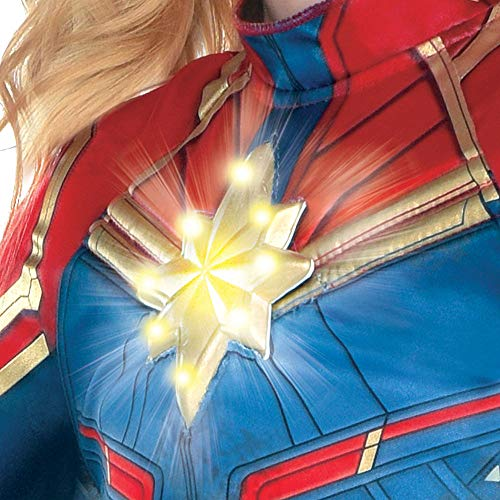Costumes Usa Light Up Captain Marvel Halloween Costume For Girls Superhero Jumpsuit Medium Dress Size 8 10 Amazon In Clothing Accessories Order your captain marvel costumes from costume supercenter today. costumes usa light up captain marvel