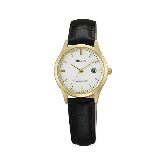 Orient Reloj Análogo clásico para Mujer de Cuarzo con Correa en Cuero FSZ3N001W0