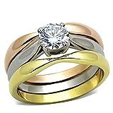 1000 Jewels Wedding Rings