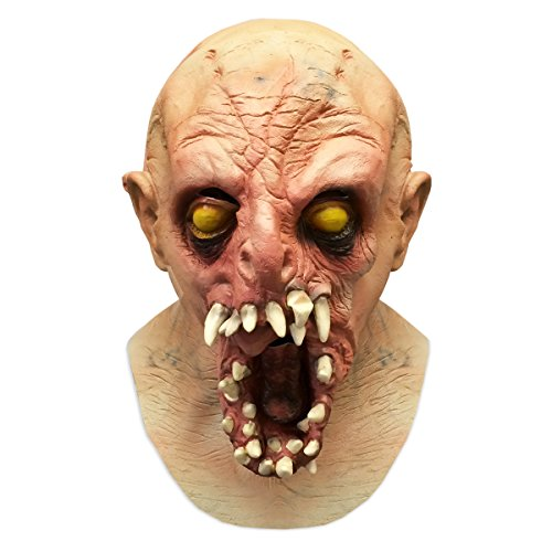Off the Wall Toys Scary Halloween Monster Alien Latex Face Mask Costume -