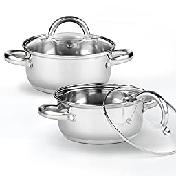 Cook N Home 2479 Tapas Pan (2 Pack), 1.5 quart/5.5\