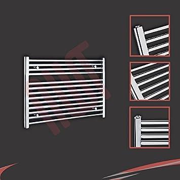 900mm (w) x 600mm (h) - Radiateur sèche-serviettes plat chromé Barre ...