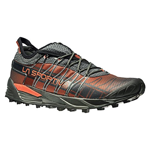 La Sportiva Men's Mutant Backcountry Trail Running Shoe, Carbon/Flame, 42.5 M EU