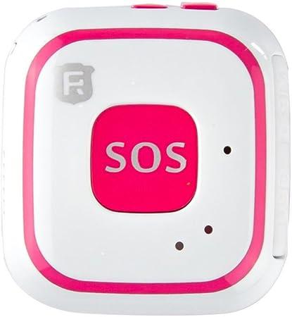 Micro colgante de seguimiento GPS para niños y ancianos con botón de alarma SOS, antena integrada, seguimiento en tiempo real con wifi (RF-V28)