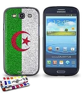 Carcasa Flexible Ultra-Slim SAMSUNG GALAXY S3 / I9300 de exclusivo motivo [Algerie Bandera] [Negra] de MUZZANO  + ESTILETE y PAÑO MUZZANO REGALADOS - La Protección Antigolpes ULTIMA, ELEGANTE Y DURADERA para su SAMSUNG GALAXY S3 / I9300