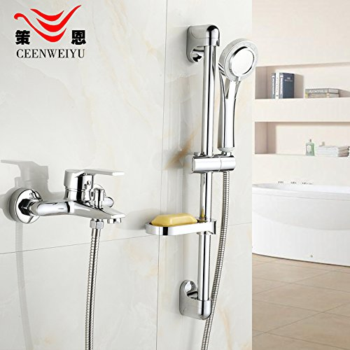B) Hlluya Professional Sink Mixer Tap Kitchen Faucet Shower set rain shower set with lifting lever full copper shower faucet with the water,D