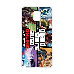 games Grand Theft Auto Online Heists Game Poster Samsung Galaxy Note 4 Cell Phone Case White Present pp001-9475390