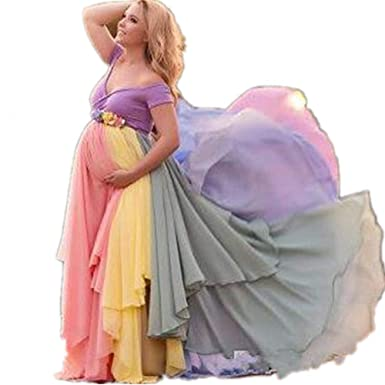 Formaldresses Rainbow Pregnant Evening Dress Maternity Photography ...