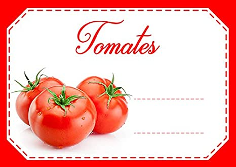 Mon Bio Jardin Juego de 30 etiquetas autoadhesivas tomates para mermelada, compota, conserves casa: Amazon.es: Hogar