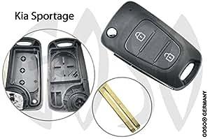 GOSO Kia Sportage Llave llaves Caja vacía ne662pulsador 4365