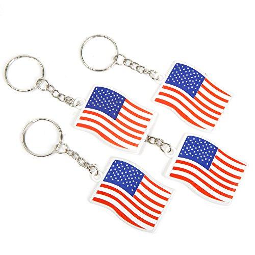 ((864) U.S. Patriotic American Flag Key Chains USA ~ Wholesale Lot)
