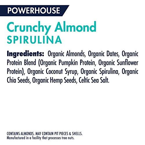 SHANTI BAR The Superfood Protein Bar, POWERHOUSE SPIRULINA - Crunchy Almond, 1.7 oz (Pack of 12) by SHANTI BAR (Image #3)