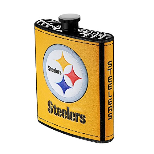 Plastic Flask Hip (Boelter Brands NFL Pittsburgh Steelers Plastic Hip Flask, 7-ounce)