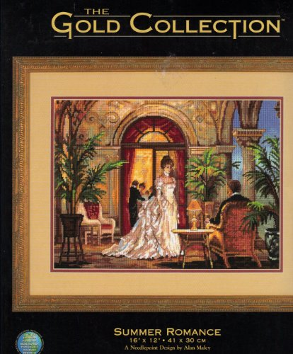 Summer Romance - Needlepoint Sewing Kit - The Gold Collection - Dimensions #2493