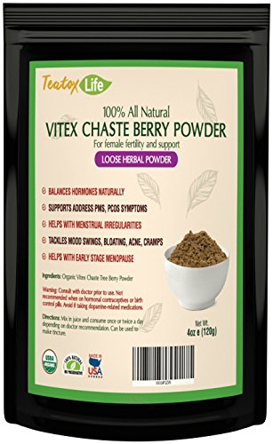chastetree powder fertility supplement Organic product image