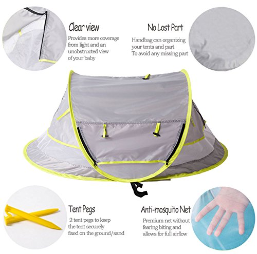 Portable Camping Shelter Backpacking Kid Mosquito Net Pop Up Bed Tent Outdoor
