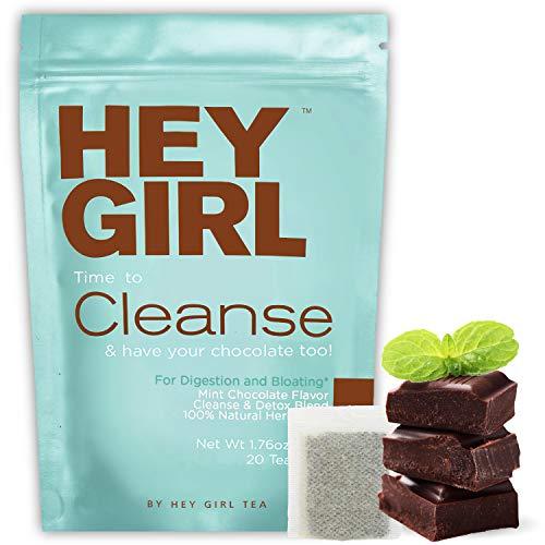 Hey Girl Tea Chocolate Mint Body Cleanse + Detox | 20 Tea Bags 50 G