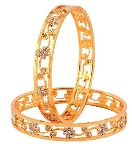 the-jewelbox-22k-gold-plated-nakshatra-american-diamond-filigree-bangle-pair