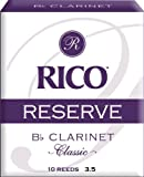 Rico Reserve Classic Bb Clarinet Reeds, Strength 3.5, 10-pack