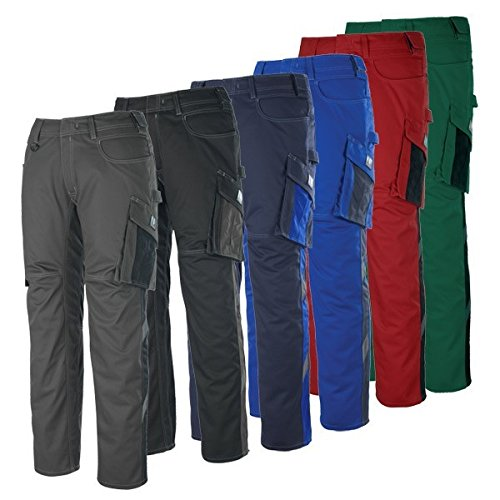 Mascot 12579-442-0209-90C52''Oldenburg'' Safety Trousers, Red/Black, L90cm/C52